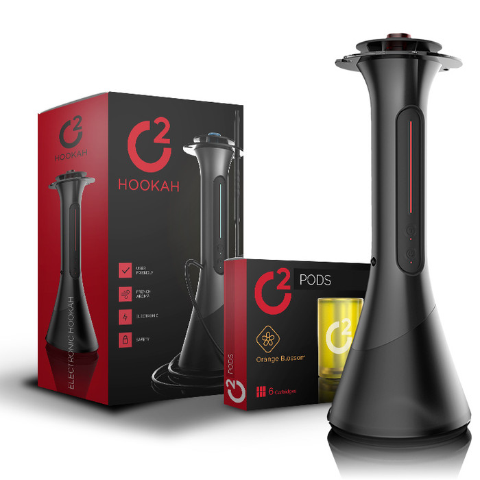 o2 Premium Electric Hookah - Includes 5 Pods