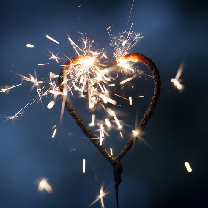 Heart-shaped Wedding Sparklers - 12 inch