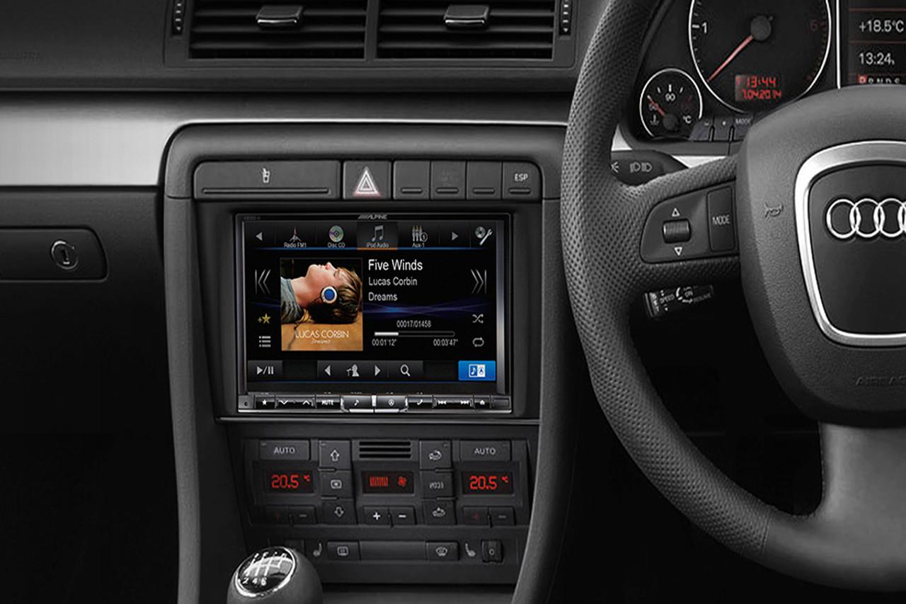 alpine audi a4 b7 8 inch premium navigation upgrade. Black Bedroom Furniture Sets. Home Design Ideas