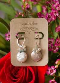 Freshwater pearl earrings- affordable for the bride!