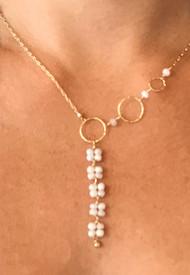 Silverrite Y necklace