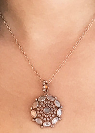 rose gold in a victorian setting