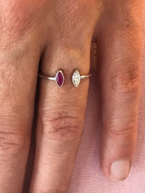 One of kind dainty ring