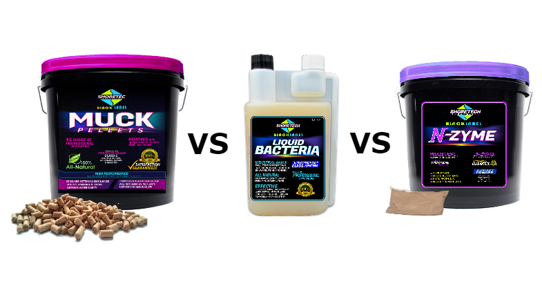 Lake Pond Bacteria | Pellets VS Powder VS Liquid | Differences and which types to use in your lake or pond