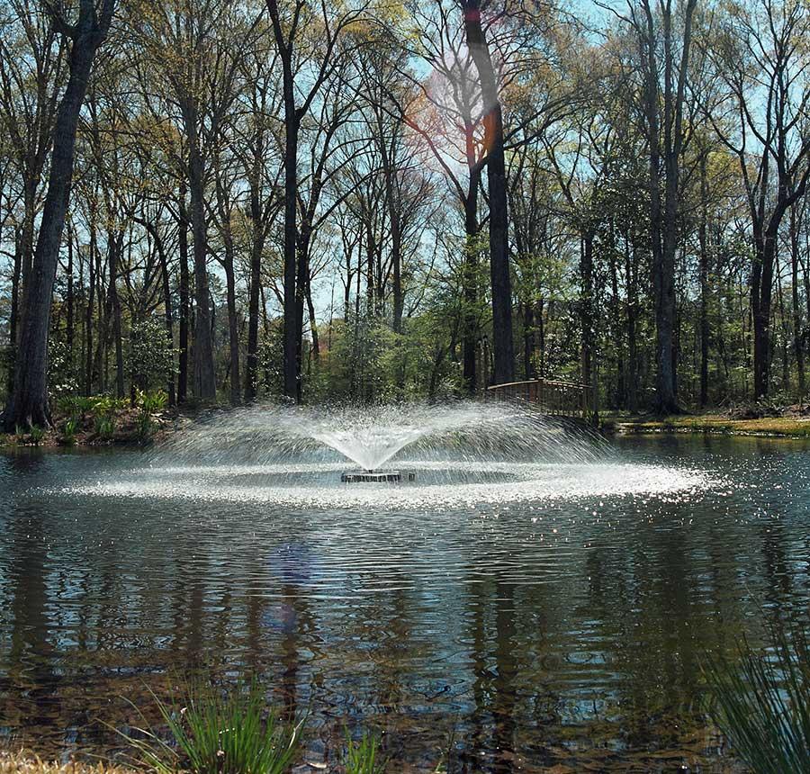 3400jf Kasco Floating Pond Fountain Juniper Display