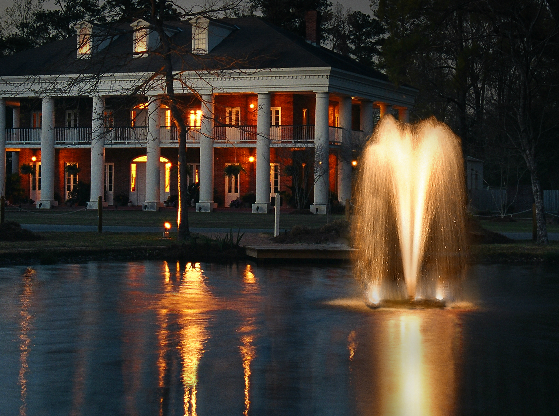 3400jf Kasco Floating Pond Fountain Lights At Night