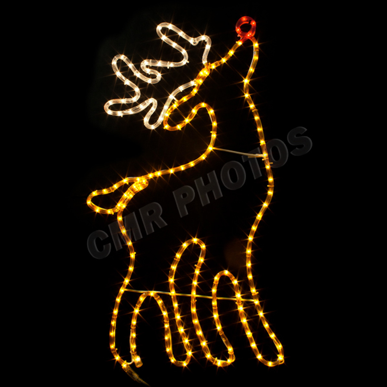 rudolph the red nosed reindeer rope light motif silhouette display 100modeer