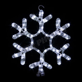 12 led snowflake rope light motif silhouette display 100mols705