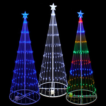 12 foot 3d led showmotion tree 100shtree12 - Led Light Christmas Decorations