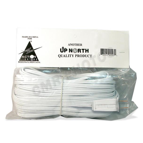 SPT2 (10amp) White Wire w/ Male Plug
