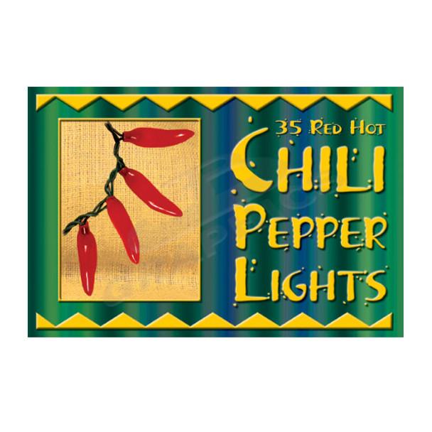 35 Red Chili Pepper String Light Set - 10235PL1R