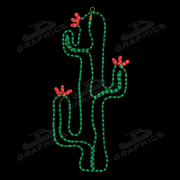 "LED18"" x 36"" CACTUS IN BLOOM - 102MOL715"