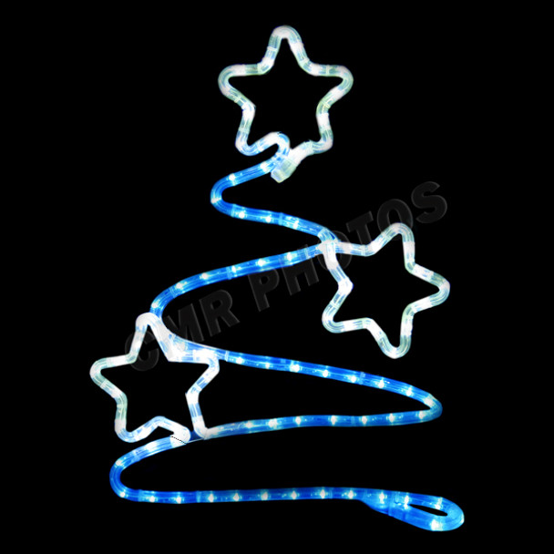 Led blue tree wtwinkling stars rope light window motif electricart led blue tree wtwinkling stars rope light aloadofball Choice Image