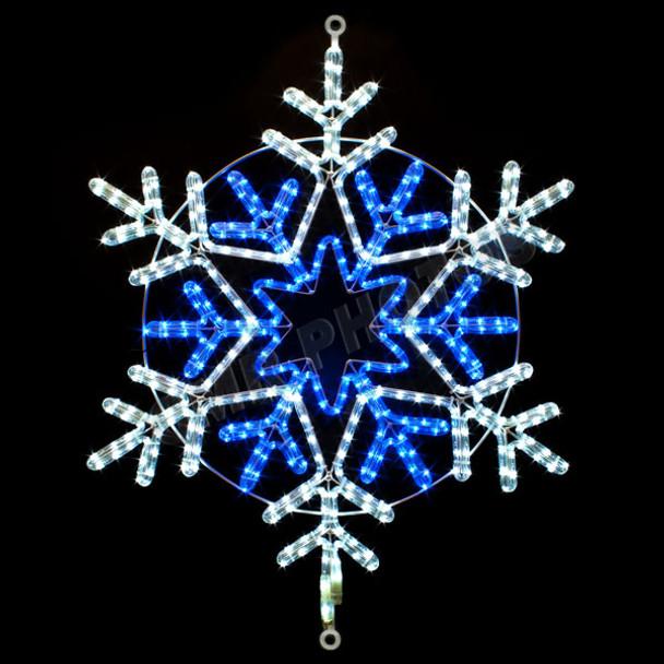 31 blue white led rope light snowflake motif silhouette display 31 blue white led rope light snowflake motif silhouette display 100mols39 mozeypictures Images
