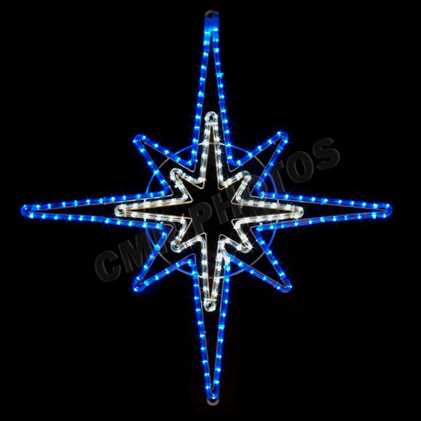 33 blue white led rope light star motif silhouette display 33 blue white led rope light star motif silhouette display 100mol37 mozeypictures Images