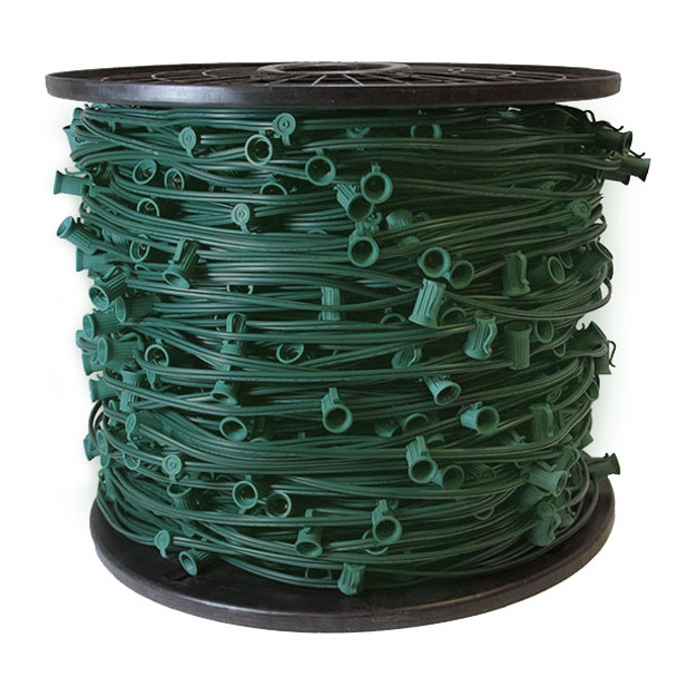 C9 GREEN STRING LIGHT - 1000 FOOT ROLL - SPT2 (10 AMP)