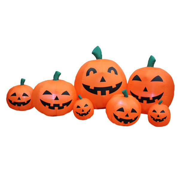 Halloween Pumpkin Family Inflatable yard Decoration
