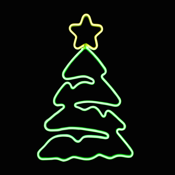 SMD Neon Tree with Top Star