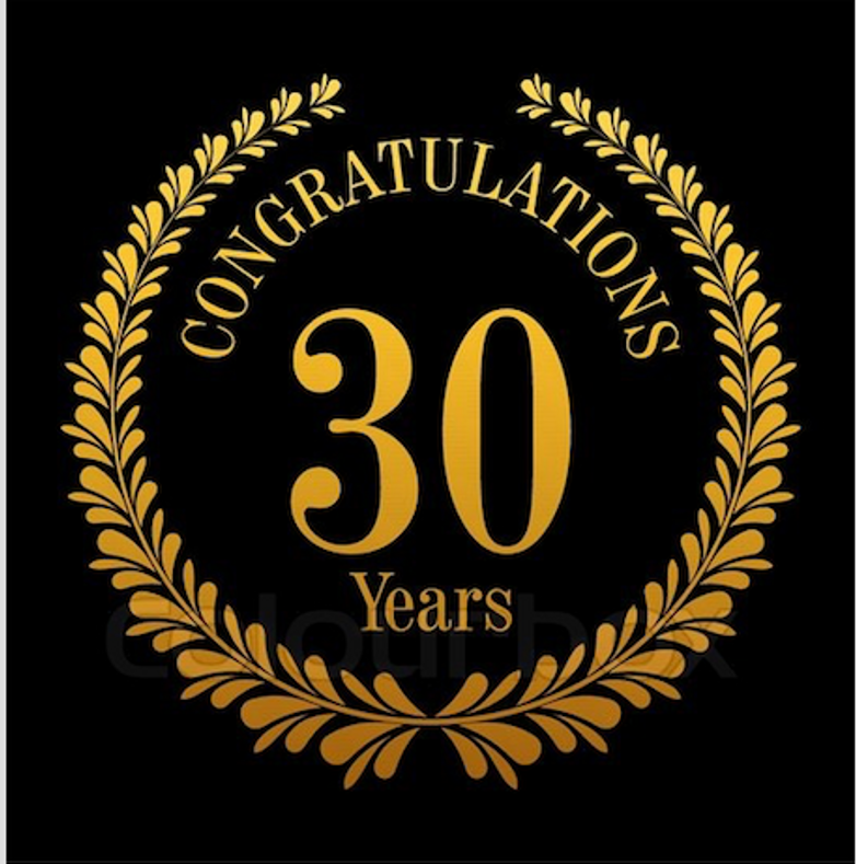 Thank you for 30 years!!!