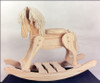 Unfinished Wooden Rocking Horse 1