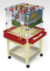 Childbrite 4 Station Space Saver Easel w/Mega-Tray 1