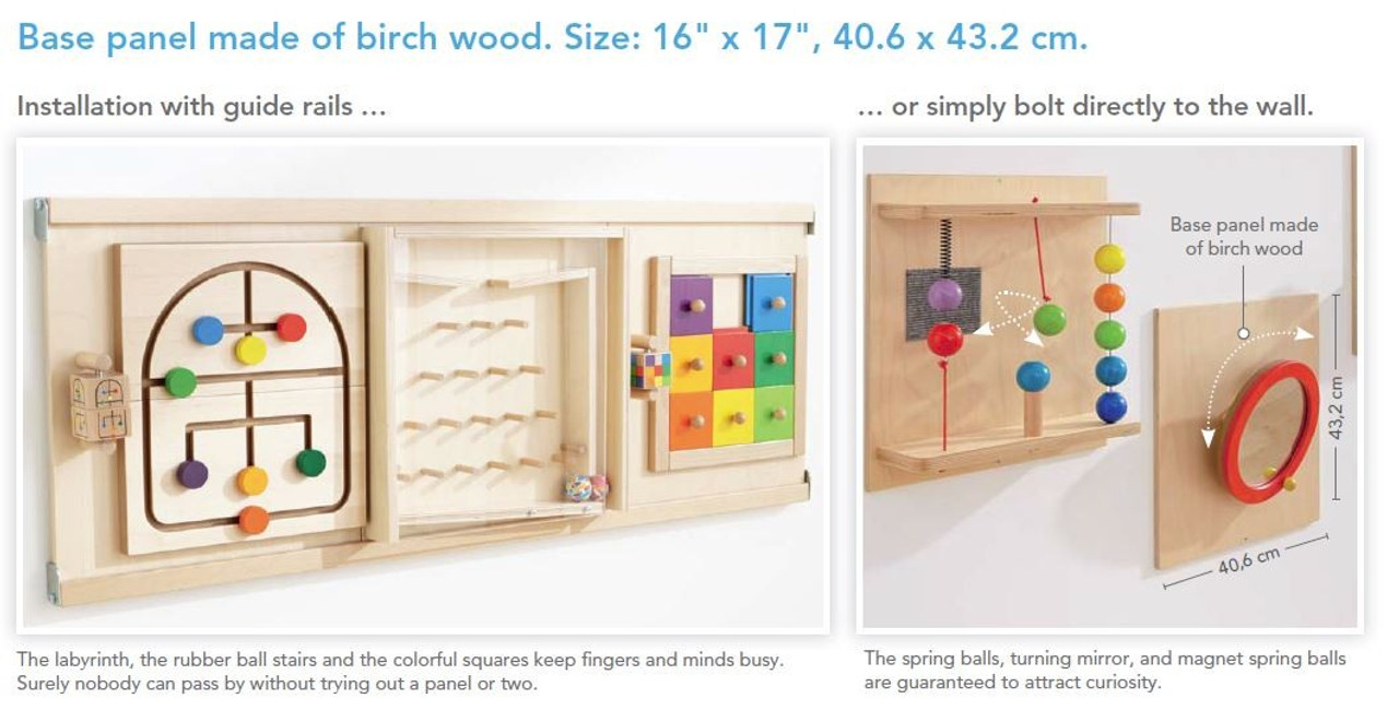 HABA Sensory Wall   Acrylic Gears Toy | Wall Panel Toys | Waiting Room Toys