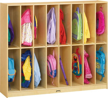 Jonti-Craft 16 Section Twin Trim Lockers 1