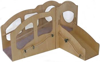 Mainstream Slip 'n Slide Infant/Toddler Mini Loft, Wave Design, Blue MagiCarpet (Beige Shown) 1
