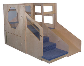 Mainstream Infant Toddler 2 Loft A with locking Storage, Blue Carpet 1