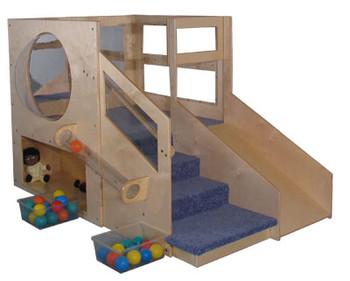 Mainstream Infant Toddler 2 Loft B with 2-Storages & Bubble, Blue Carpet 1