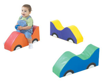 Children's Factory Mini Cars Soft Riders - Set of 3 1