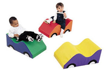 Children's Factory Infant Toddler Soft Cars - Set of 3 1
