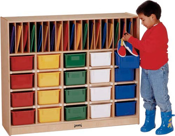 Jonti-Craft Classroom Organizer - 20 - with Trays 1