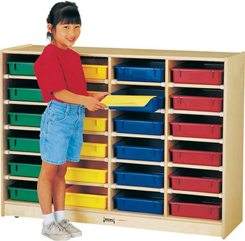 Jonti-Craft 24 Paper-Tray Cubbie with paper-trays 1