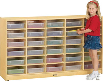 Jonti-Craft 30 Paper-Tray Cubbie with paper-trays 1