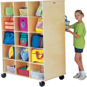 Jonti-Craft Big Twin Double Side Rolling Cubbie Unit 1