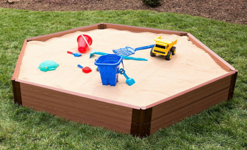 Hexagon Wooden Sandbox Kit 1