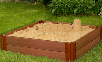 "4' x 4' x 11"" Square Sandbox - 2"" Profile"