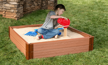 "4' x 4' x 11"" Square Sandbox - 2"" Profile 1"