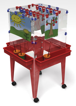 "Childbrite Youth 4 Station Space Saver Easel - 24"" 1"