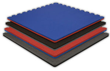 "Jumbo Reversible Soft Floor - 4' x 4' x 7/8"" with three attached Borders - Quantity 10 1"