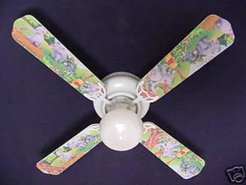 """Winnie Pooh Heffalump Lumpy Eeyore Ceiling Fan 42"""" 1"""