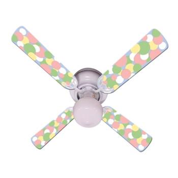 "Kids Soft Pastel Bubble Dots Ceiling Fan 42"" 1"