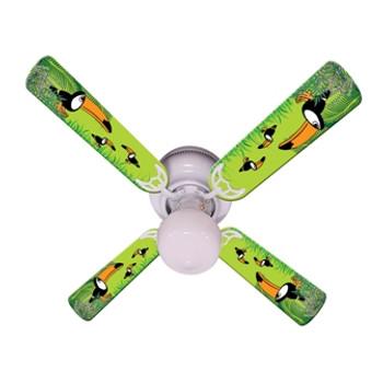"""Kids Toucan Clan Ceiling Fan 42"""" 1"""