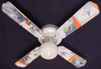 """Radical Surfing Surf Waves Ceiling Fan 42"""" 1"""