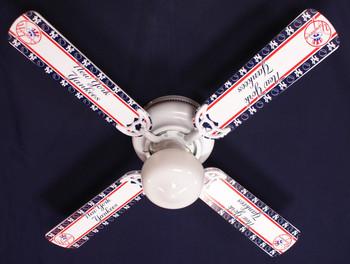 """MLB New York Yankees Baseball Ceiling Fan 42"""" 1"""