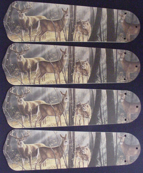 "Deer Buck Doe Hunting Ceiling Fan 42"" Blades Only 1"
