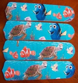 """Finding Nemo Ceiling Fan 42"""" Blades Only 1"""