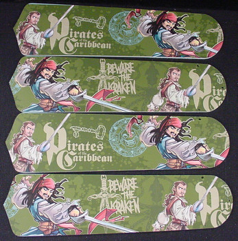"""Pirates Of Caribbean 3 Jack Sparrow Ceiling Fan 42"""" Blades Only 1"""