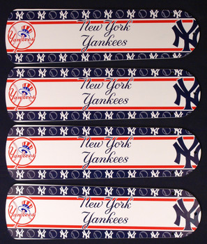 "MLB New York Yankees Baseball Ceiling Fan 42"" Blades Only 1"